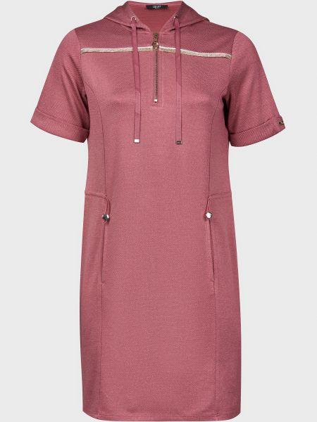 Розовое платье из вискозы на молнии Liu Jo