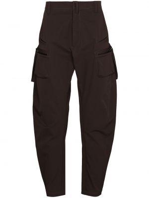 Зауженные брюки карго - коричневые Acronym