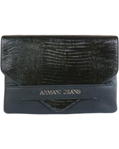 Черный клатч Armani Jeans
