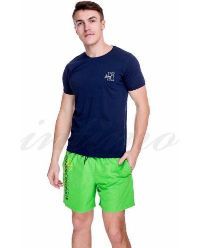 Хлопковая футболка - голубая Navigare