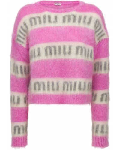 Розовая свитер из мохера Miu Miu