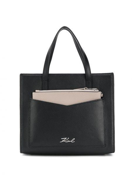 Маленькая сумка сумка-тоут с пряжкой Karl Lagerfeld