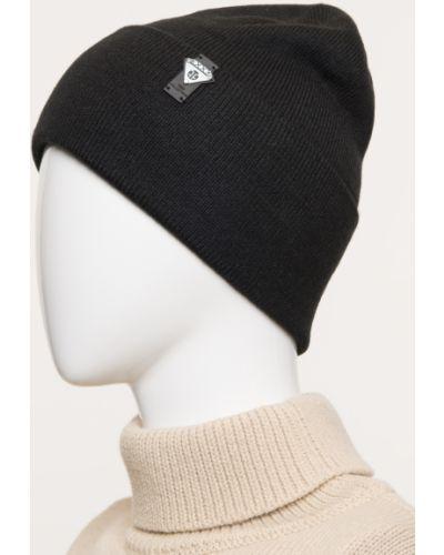 Шерстяная вязаная черная шапка Ferz