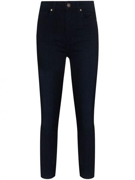 Хлопковые синие укороченные джинсы с пайетками в стиле бохо Paige