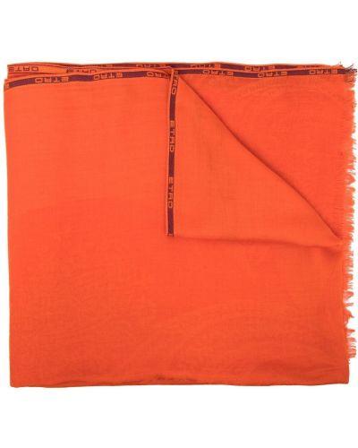 Pomarańczowy z kaszmiru szalik Etro