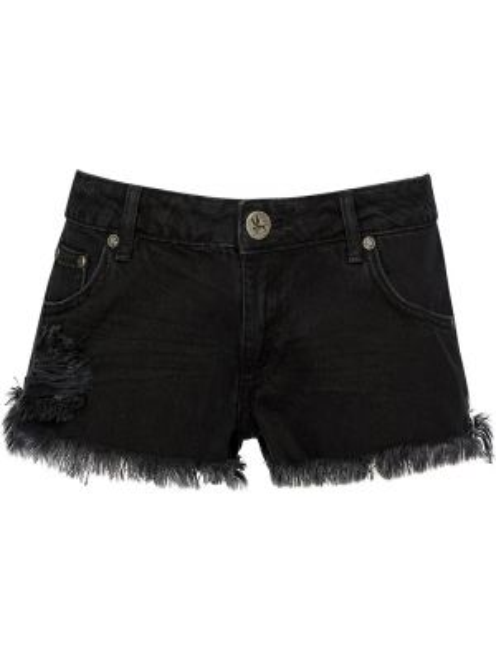 Хлопковые черные шорты Oneteaspoon