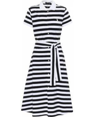 Платье миди в полоску с американской проймой Polo Ralph Lauren