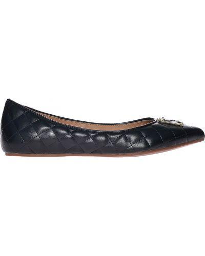 Черные балетки кожаные Love Moschino