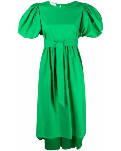 Zielona sukienka mini rozkloszowana bawełniana Edward Achour Paris