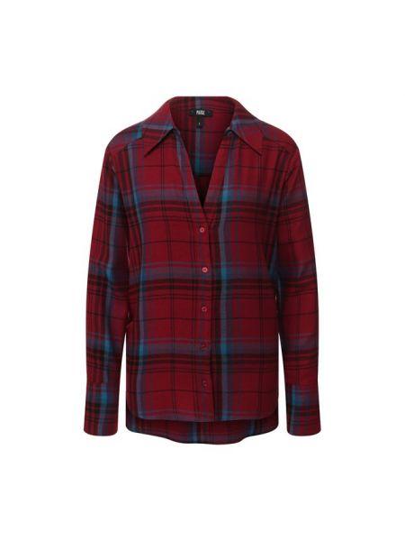 Джинсовая рубашка с орнаментом свободного кроя Paige