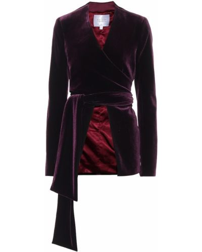 Фиолетовая бархатная зимняя куртка Galvan