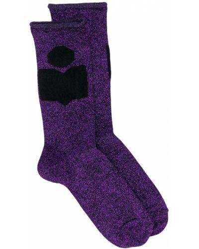 Фиолетовые носки в рубчик Isabel Marant