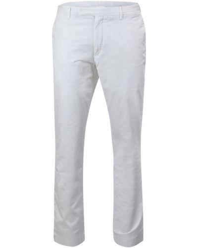 Białe spodnie zapinane na guziki Ralph Lauren