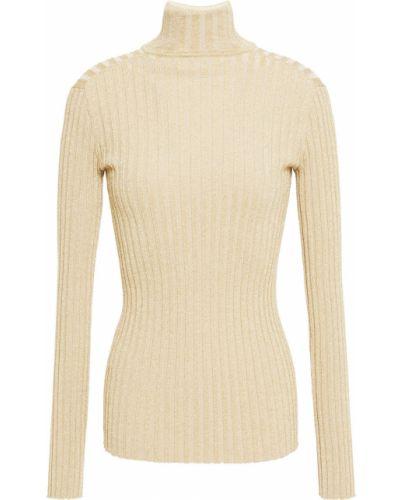 Облегченный свитер металлический золотой Victoria Victoria Beckham