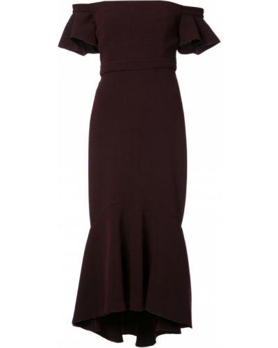 Платье мини с открытыми плечами с оборками Rachel Zoe