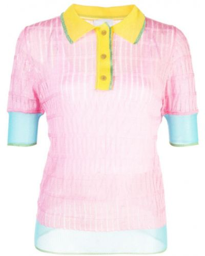 Розовая классическая рубашка на пуговицах с лебяжьим пухом I-am-chen