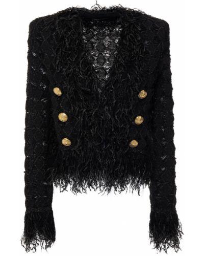 Черная итальянская куртка Balmain