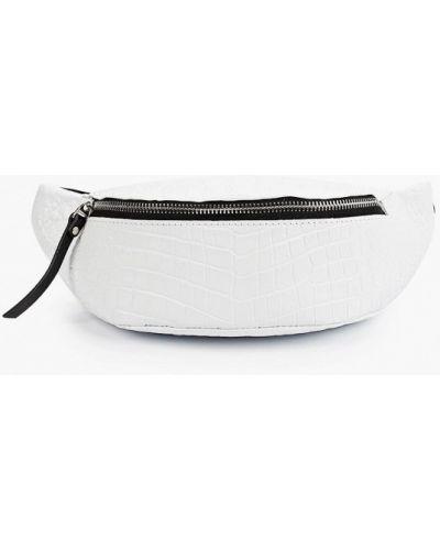 Кожаная белая поясная сумка Asya Malbershtein