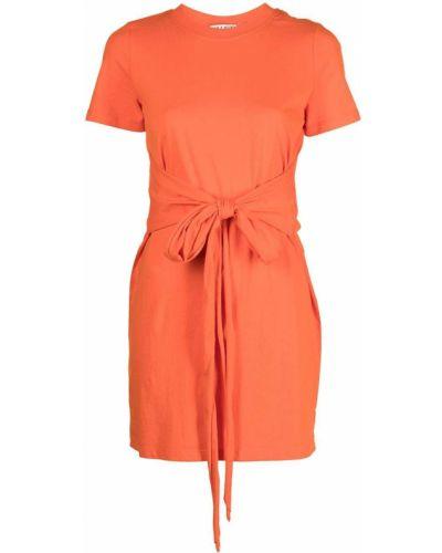 Хлопковое платье миди с завязками с короткими рукавами Alice+olivia