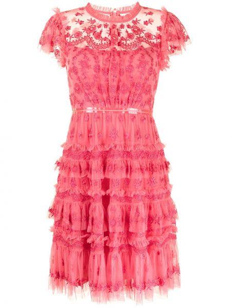 Розовое платье из полиэстера Needle & Thread