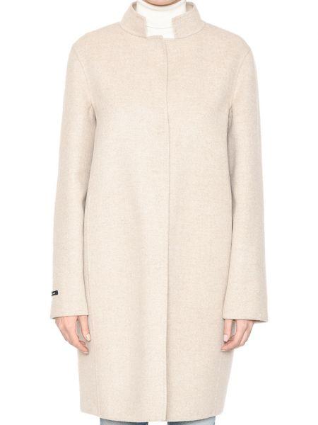 Бежевое кашемировое пальто Manzoni24