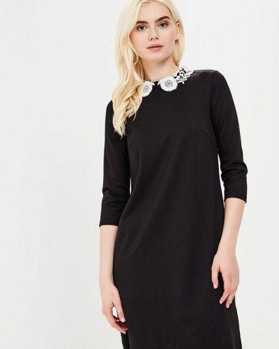 Черное платье с длинными рукавами Incity