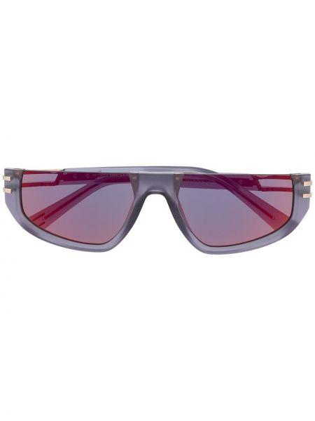Муслиновые фиолетовые солнцезащитные очки прямоугольные Diesel