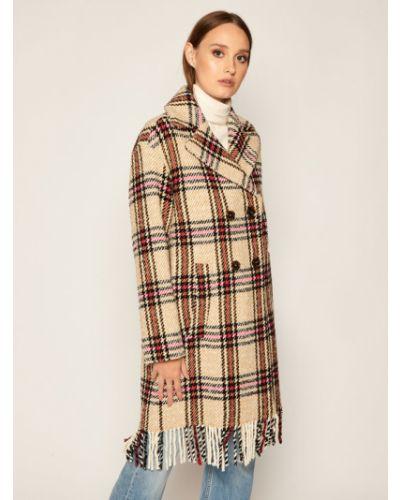 Beżowy płaszcz wełniany Iblues