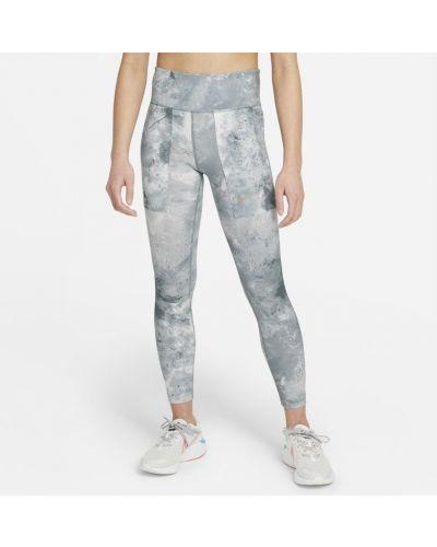 Szare legginsy z printem Nike
