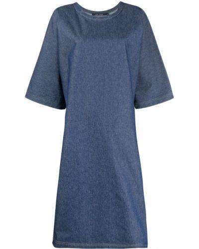 С рукавами синее джинсовое платье оверсайз Sofie D'hoore