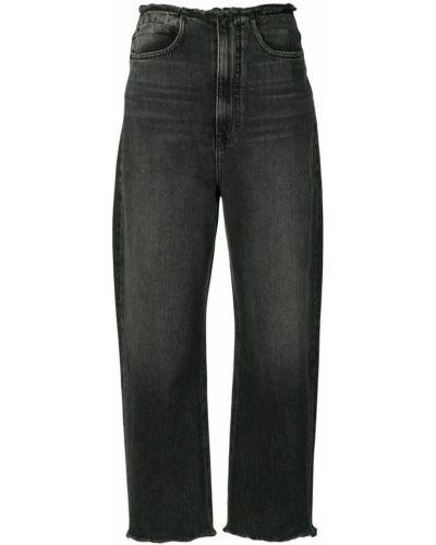 Широкие джинсы с карманами серые Alexander Wang