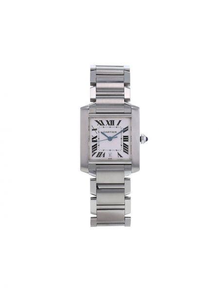 Белые часы квадратные Cartier