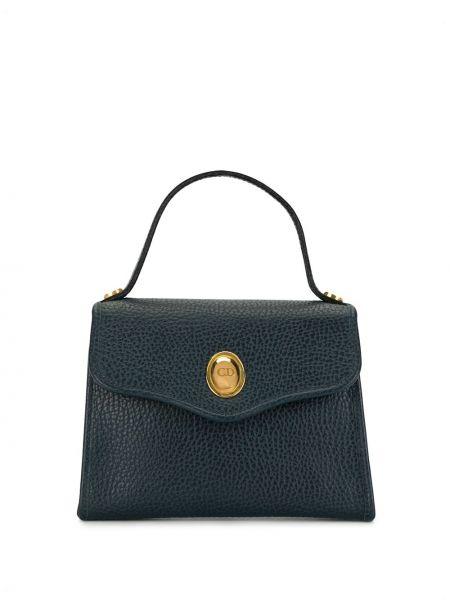 Skórzany mini torebka złoto Christian Dior