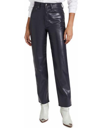 Mom jeans skorzane Agolde