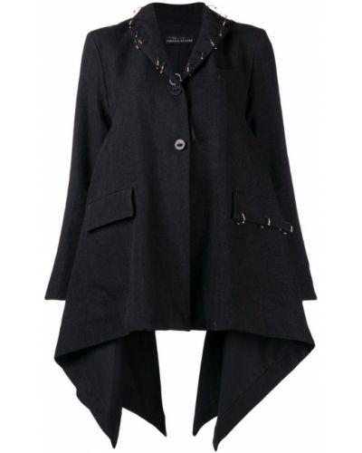 Расклешенное серое длинное пальто Barbara Bologna