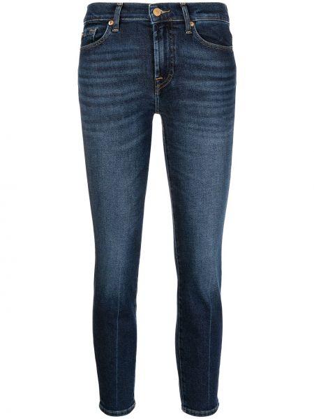 Укороченные джинсы - синие 7 For All Mankind