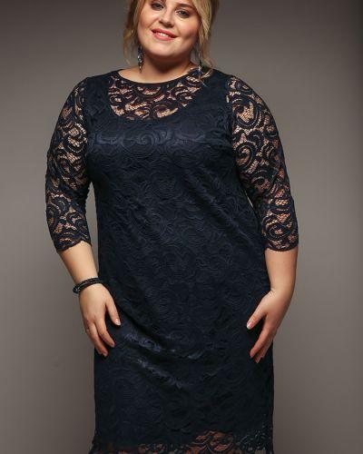 Вечернее платье миди - красное Jetti-plus