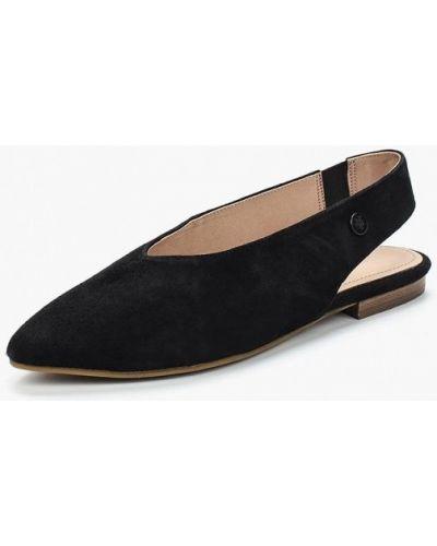 Черные замшевые туфли Marc O'polo