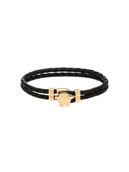 Czarna złota bransoletka do pracy Versace
