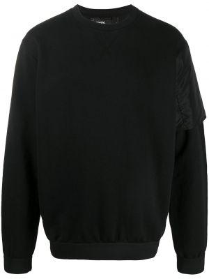 Czarna bluza z długimi rękawami bawełniana Nemen