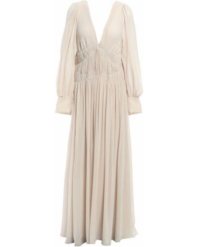 Открытое шелковое платье макси с открытой спиной Stella Mccartney