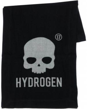 Czarny szalik wełniany Hydrogen