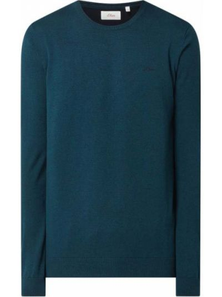 Sweter z dekoltem w serek - turkusowy S.oliver Red Label