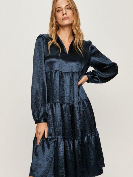 Синее платье с длинными рукавами с вырезом Scotch & Soda
