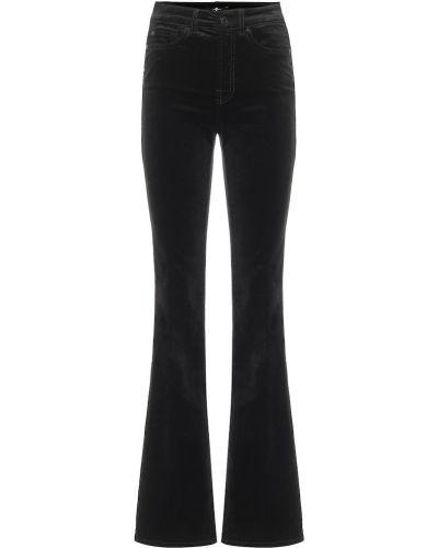 Ватные бархатные черные брюки 7 For All Mankind