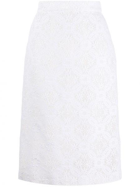 Sukienka midi na wesele dopasowana Alexander Mcqueen