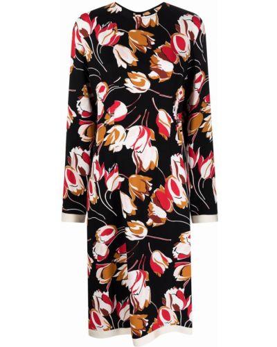 Платье макси с длинными рукавами - черное Marni