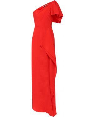 Вечернее платье с декольте шелковое Roland Mouret