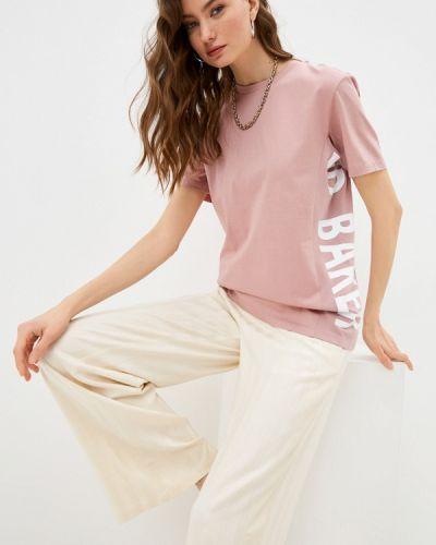 Розовая с рукавами футболка Ted Baker London