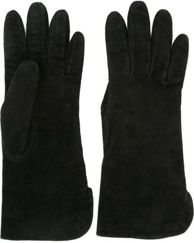Кожаные перчатки - черные Yves Saint Laurent Vintage